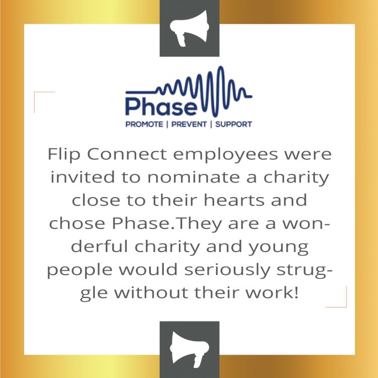 Flip Connect donates to the 'Phase' charity in Hitchin